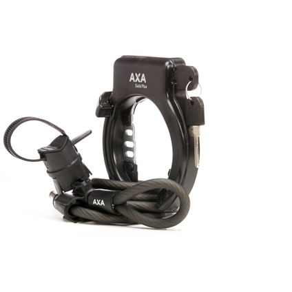 Axa Solid plus Frame Lock with Plug in Opening Key not Deductible