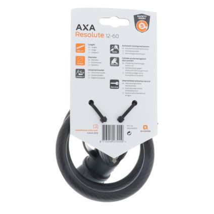 Kabelschloß AXA Resolute 12-60 Noir